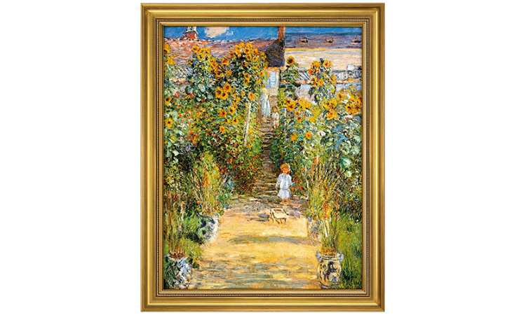 Product afbeelding: Monet - Monet's tuin in Vétheuil (1881)