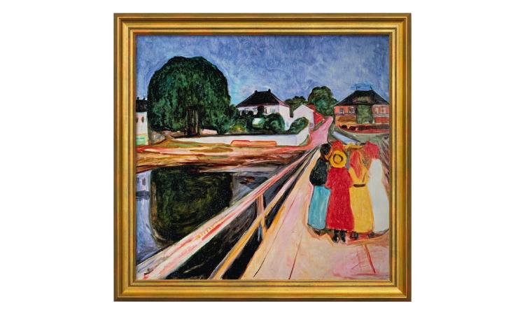 Product afbeelding: Munch - Meisjesgroep op een brug (1902)