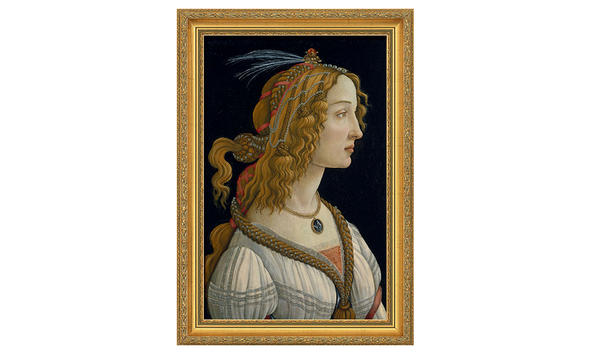 Product afbeelding: Sandro Botticelli - Portret van een jonge vrouw